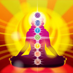The chakras on the body